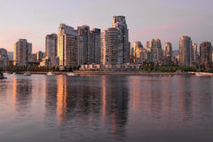 Vancouver BC Waterfront Condominiums Royalty Free Stock Photos