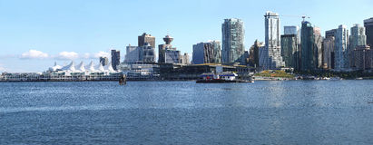 Vancouver BC waterfront skyline panorama. Royalty Free Stock Image