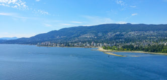 Vancouver beach and mountain Royalty Free Stock Images