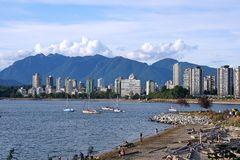 Vancouver beach Stock Photos