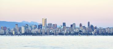 Vancouver. Beautiful summer evening in Vancouver, British Columbia, Canada Stock Photo