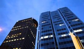 Vancouver bij dageraad Stock Afbeelding