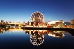 Vancouver bij nacht Stock Afbeeldingen