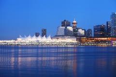 Vancouver bij nacht Stock Foto's