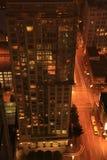 Vancouver bij Nacht Stock Foto