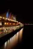 Vancouver bij Nacht, Canada Stock Foto