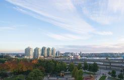 Vancouver bleu evnining Image stock