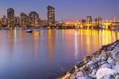 Vancouver, Britisch-Columbia, Kanada-Skyline an der Dämmerung Lizenzfreie Stockbilder