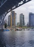 Vancouver, British Columbia. View of construction in downtown Vancouver, BC, as seen from Granville Island Stock Photos