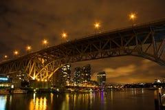 Vancouver, British Columbia. Granville bridge, Vancouver, BC, night shot Stock Images