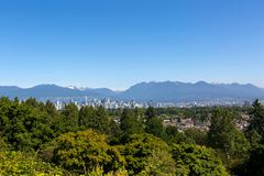Vancouver BC Skyline and Mountain View Royalty Free Stock Photo