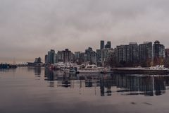 Vancouver, British Columbia/Canada - December 24 2017: View to h Royalty Free Stock Photography