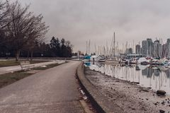 Vancouver, British Columbia/Canada - December 24 2017: View to S Royalty Free Stock Photo