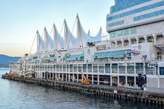 Port of Vancouver at Canada Place, a Cruise Ship Port and Convention Centre royalty free stock images