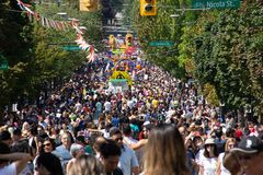 Vancouver, British Columbia, Canada - August 4, 2019: People take part in Vancouver Gay Pride Parade 2019