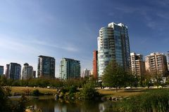 Vancouver buildings Stock Photos
