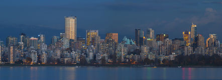 Vancouver Buildings. Vancouvers skyline in the evening Stock Images