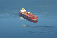 Vancouver, Burrard Inlet Oil Tanker Stock Images