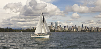Vancouver from Burrard inlet Royalty Free Stock Photography