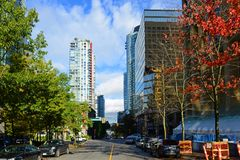 Vancouver Bute Street, BC, Canada Royalty Free Stock Photos