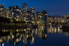 Vancouver céntrica Foto de archivo libre de regalías