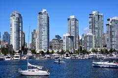 Vancouver céntrica Imágenes de archivo libres de regalías