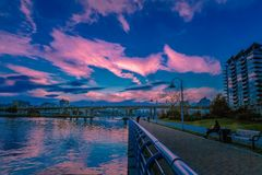 Vancouver céntrica hermosa fotografía de archivo libre de regalías
