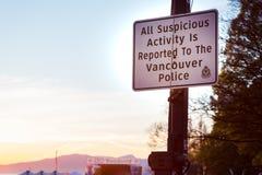 VANCOUVER, A.C., CANADÁ - 20 DE ABRIL DE 2019: Una muestra de la policía de Vancouver en el festival 420 en Vancouver fotos de archivo