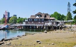 Architettura di lungomare di Vancouver Fotografia Stock Libera da Diritti