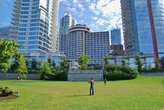 Architettura moderna del centro di Vancouver Fotografia Stock