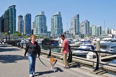 Vancouver Waterfront. VANCOUVER, CA- JUNE 25: Downtown VANCOUVER, CA- JUNE 25: Downtown Vancouver Waterfront, and Lifestyle on June 25 , 2011 in Vancouver, CA stock images