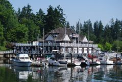 Stanley Park Clubhouse in Vancouver Waterfornt Stock Foto