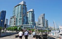 De Moderne Architectuur van Vancouver Royalty-vrije Stock Afbeeldingen