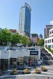 Vancouver modern arkitektur, Kanada Fotografering för Bildbyråer