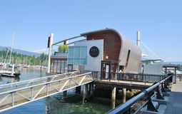 Vancouver strandarkitektur Arkivbild