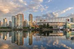 Vancouver, cala falsa Una madrugada Columbia Británica, Canadá Foto de archivo libre de regalías