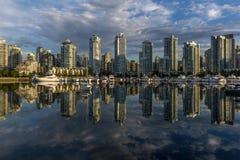 Vancouver, cala falsa Una madrugada Columbia Británica, Canadá Imágenes de archivo libres de regalías
