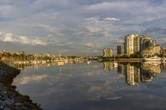 Vancouver, cala falsa Una madrugada Columbia Británica, Canadá Foto de archivo