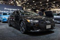 Vancouver, Canadá - marzo de 2019: Audi A7, tomado en el salón del automóvil 2019 de Vancouver fotos de archivo libres de regalías