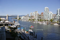 Vancouver Canada. Vancouver BC Canada is a great port, cultural center and tourist area Stock Images