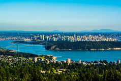 Vancouver, Canada. Aerial view of Vancouver, Canada Royalty Free Stock Image