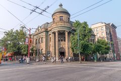 VANCOUVER, CANADA - AUGUST 9, 2017: Carnegie Public Library exte Royalty Free Stock Images