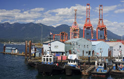 VANCOUVER, CANADA - AUGUST 24, 2016: Port Zone in the city cente Royalty Free Stock Photos