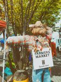 VANCOUVER, CANADA - AUGUSTUS 10, 2017: Granville Market-teken E Stock Foto's