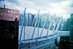 Vancouver Canada BC Place stadium Sept 2017. Landmark Vancouver British Columbia BC Place Stadium Sep 2017 stock image