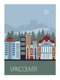 Vancouver Canada. Vancouver Canada in bright colors Royalty Free Stock Photo