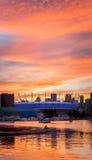 Vancouver, Canada - Circa 2017: BC Place Stadium bij Zonsondergang Royalty-vrije Stock Afbeeldingen