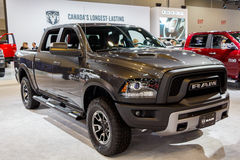 Vancouver - Canada, Circa 2017: Dodge RAM. Front Shot royalty free stock photography