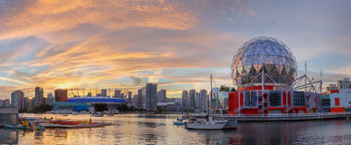 Vancouver, Canada - circa 2017: Mondo di scienza e BC posto Stadi Immagini Stock