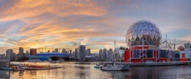 Vancouver, Canada - Circa 2017: Wetenschapswereld en BC Plaats Stadi Stock Afbeeldingen